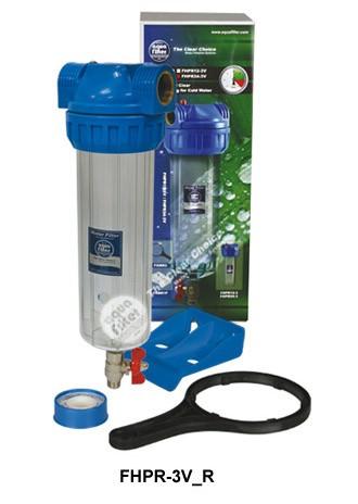 """Σώμα φίλτρου νερού 10""""- 3/4"""" 3 μερών Aqua Filter"""